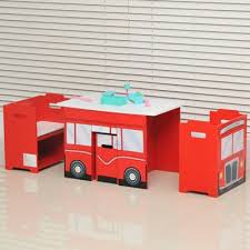 kids table and chairs with storage buy homcom wooden bus like 3pc kids table and chairs set