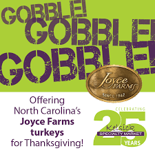 joyce farms turkeys available now for thanksgiving 2017 kelsick