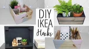 Ikea Storage Boxes Diy Diy Ikea And Pinterest Inspired Hacks Crate Storage Ideas Ep 4