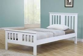 White Wood Single Bed Frame Fancy White Bed Frame Single M91 For Your Home Design Your Own