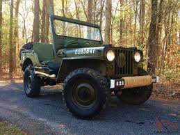 army jeep with gun willys m38 mc army military jeep