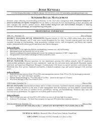 Resume Objective For Retail Job by Retail Management Resume Examples And Samples Samples Of Resumes