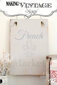 making vintage signs country design style