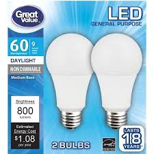 daylight led light bulbs daylight led light bulb and great value led 9w 60w equivalent a19 2