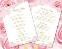 make your own wedding fan programs lace program fan etsy