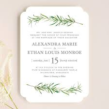 simple wedding invitations simple sprigs wedding invitations by erin deegan minted