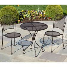 Cast Iron Bistro Chairs Furniture Black Iron Bistro Sets For Your Patio Decor