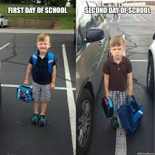 First Day Of School Funny Memes - first vs second day of school weknowmemes