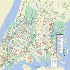 Street Map Of Queens New York by Map Of Nyc Bus Stations U0026 Lines