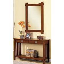 Hallway Table And Mirror Furniture Of America Oak Finish Hallway Console Table And Mirror