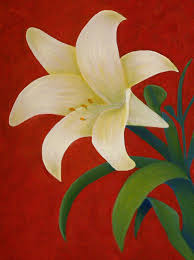 Lilly Flowers How To Paint A Lily Step By Step
