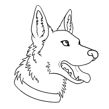 german shepherd coloring page vector of a cartoon lifeguard