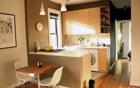 thrilling wonderful stylish cherry apartment kitchen and living