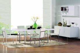 Modern Dining Table White Finish Modern Dining Table W Chrome Legs