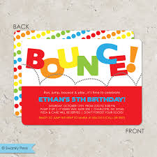 birthday party invitations bounce house birthday party invitation it up party