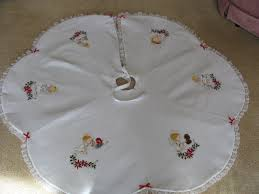 embroidered custom tree skirts home decorations
