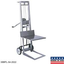 manual stacker foot pedal lift hand crank stackers pallet