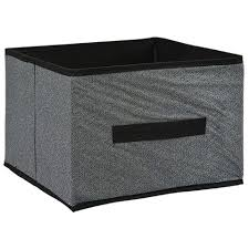 bulk essentials gray collapsible storage containers at