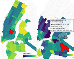 nyc oasis map maps map shows when citi bikes are faster than
