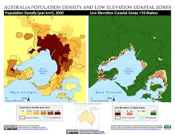 Sea Level Map Usa by Maps Low Elevation Coastal Zone Lecz Sedac