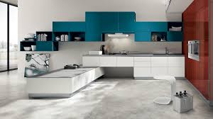 Colorful Kitchen Table by Kitchen A Surprising Kitchen Design With Glossy Kitchen Cabinet