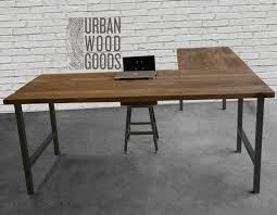 reclaimed wood l shaped desk build reclaimed wood l shaped desk manitoba design perfect