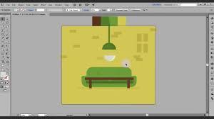 Livingroom Cartoon Create Cartoon Living Room Illustrator Tutorial Vector Youtube
