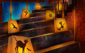 scary halloween 2012 hd wallpapers pumpkins witches spider web