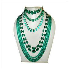 indian bead jewelry necklace images Emerald beads necklaces a rawat export exporter in barkat jpg