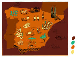 The Map Of Spain by The Wonders Of Spanish Cuisine Daniel Haskett