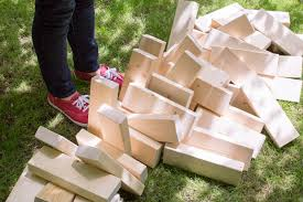 build your own outdoor jenga set home improvement projects to