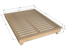 Platform Bed Frame Queen - dimensions of a queen size bed frame for queen bed dimensions nice