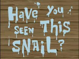 have you seen this snail transcript encyclopedia spongebobia