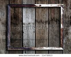 vintage frame on wooden wall stock photo 154181435