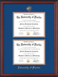 University Of Florida Interior Design by University Of Florida Diploma Frame Rosewood Double Blue On Orange