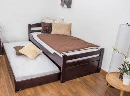 Beech Bed Frame Single Bed Easy Sleep K1 2h Incl Trundle Bed Frame And Cover