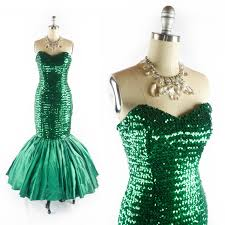 Prom Dresses From The 80s Vintage 80s Mermaid Prom Dress Sequin Dress Mermaid