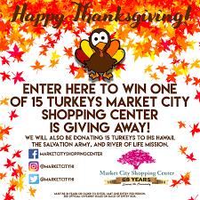 thanksgiving turkey giveaway market city shopping center
