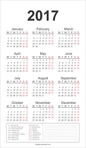2017 us calendar printable 2017 calendar template with all holidays yearly calendar 2017