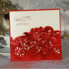 Create Marriage Invitation Card Free 2017 White Red Lace Design Laser Cut Bow Wedding Invitations Card
