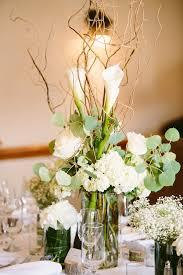White Centerpieces White And Green Centerpieces Elizabeth Anne Designs The Wedding