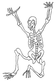 skeleton pictures for kids to color u2013 fun for halloween