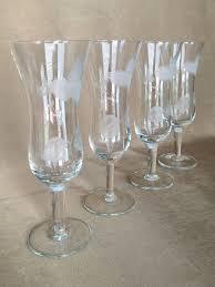 vintage champagne glasses champagne flutes short stem etched flutes parfait style