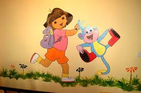 paint for kids room thousandoceansinside kids room wall painting dora and boots