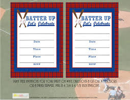 printable baseball invitation grand slam baseball party