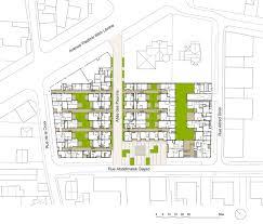 regent heights floor plan 157 housing units in nanterre atelier du pont architecture lab