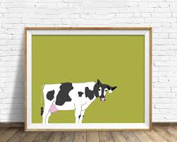 cow print dairy cow black and white cow large art large wall