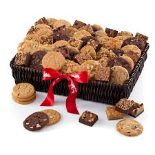 mrs fields brownies mrs fields brownie cookie gift basket hayneedle