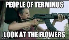 Look At The Flowers Meme - walking dead season 5 snopes com