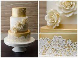 golden wedding cakes golden wedding cakes white designs white and gold wedding cake